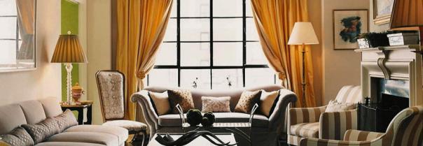 Цвет в интерьере: оранжевые шторы