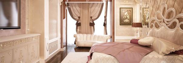 Пошив штор для спальни в стиле модерн