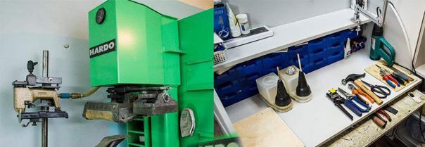 Оборудование, материалы и комплектующие для ремонта обуви